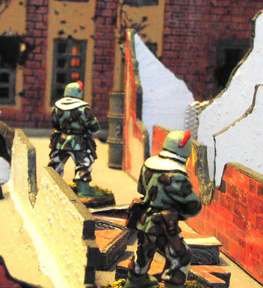 NBC Troopers advance cautiously